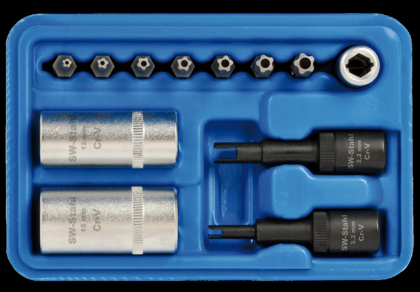 SWSTAHL Klimaanlagen Spezial-Steckschlüsselsatz 61719L