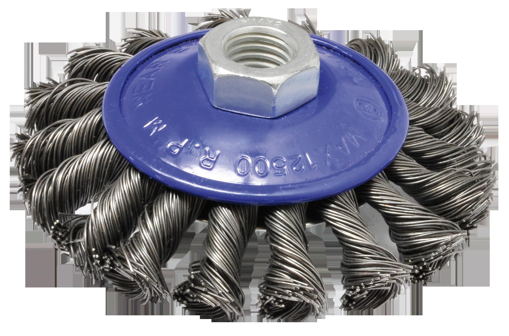 SWSTAHL Kegelbürste, gezopft, 100 mm, M 14 62315SB