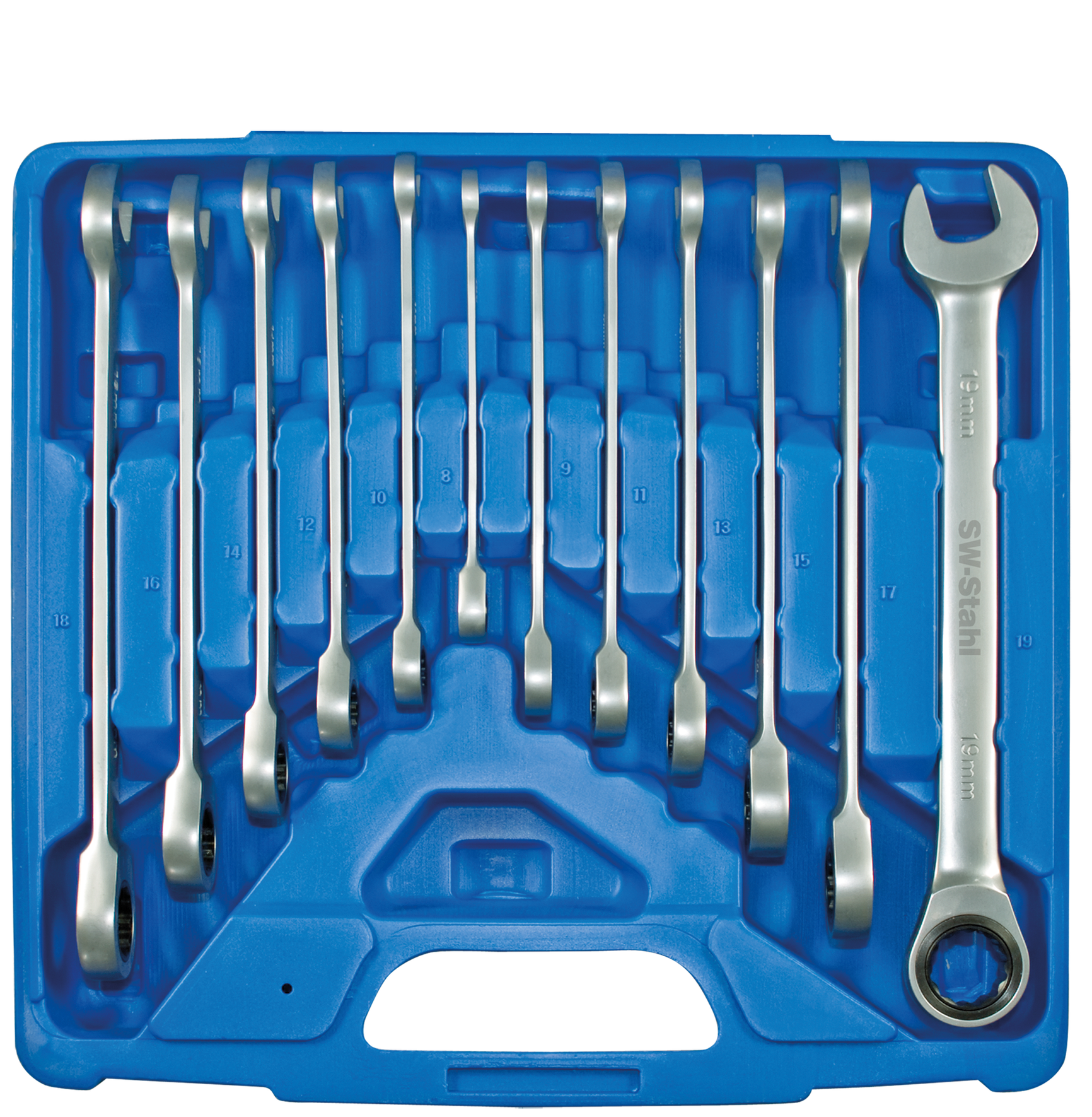 SWSTAHL Gabelringratschenschlüsselsatz 12-tlg. S1595