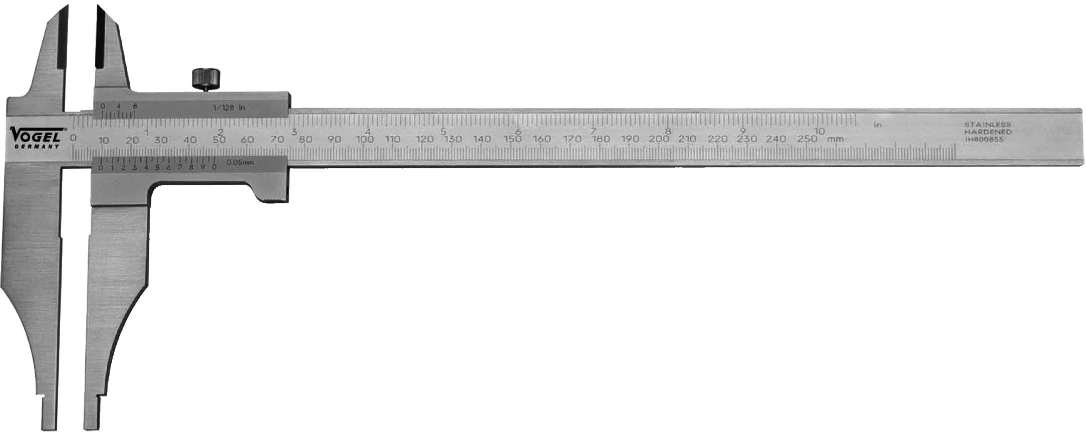 VOGEL Werkstattmessschieber, 250mm 80 mm Schnabel 20 3302