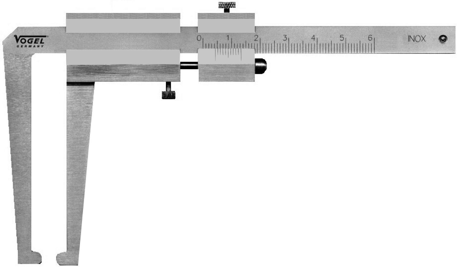VOGEL Brake discs - calipers chromed m. Measuring tips beak length 77 mm 20 6001