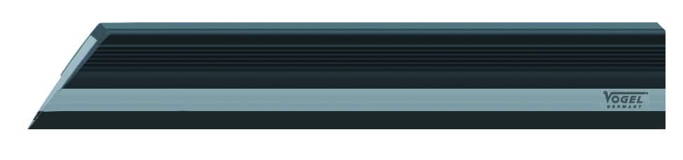 VOGEL Haarlineal 400 mm, DIN 874/00 gehärtet, bruniert, im Etui 31 0329