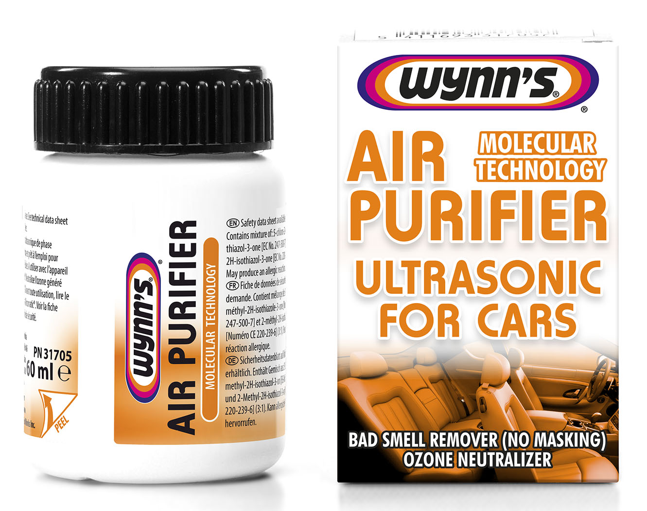 WYNN'S Ultrasonic odor remover for the vehicle interior 60 ml 31705
